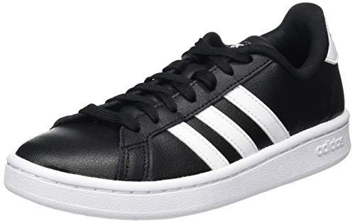 adidas Herren Grand Court Sneaker, Core Black/Cloud White/Cloud White, 44 EU