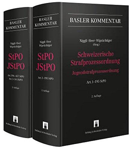Schweizerische Strafprozessordnung/Jugendstrafprozessordnung (StPO/JStPO): 2 Bände (Basler Kommentar)