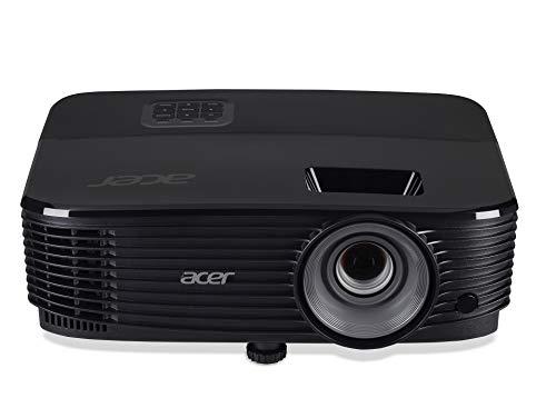 Acer X1123HP SVGA projector (800x600), contrast 20.000:1, helderheid: 4.000 ANSI, verhouding: 4:3, VGA-aansluiting, HDMI-aansluiting, levensduur van de lamp 5.000 h, geïntegreerde luidspreker, zwart