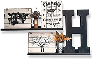 G&T Country Living Picture Ledge Floating Wall Shelf (Black, 35 Inch)