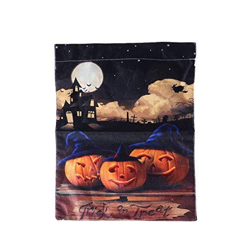Toyvian Halloween Hausgarten Flagge vertikale doppelseitige dekorative Kürbis Banner