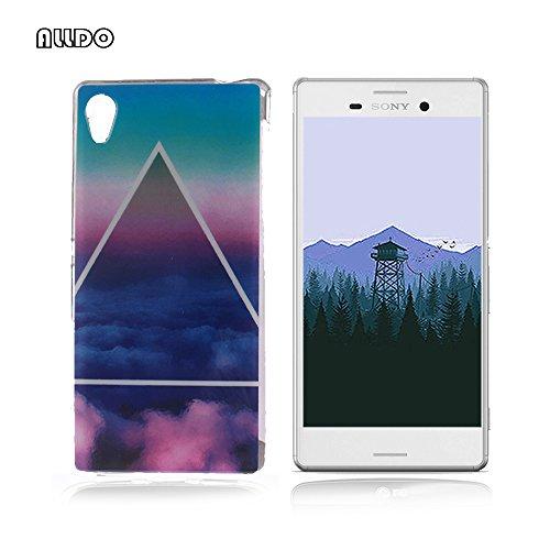 AllDo - Cover morbida e flessibile, in silicone TPU, motivo originale, ultra sottile, leggera, anti-graffio, colore: Azzurro e Nuvola