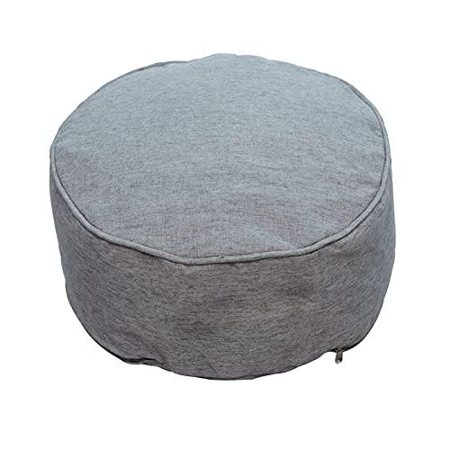 Modonghua Puffe - Puf de pie, para sala de estar, dormitorio, puf desmontable y redondo, reposo de silla para niños y adultos (gris oscuro)