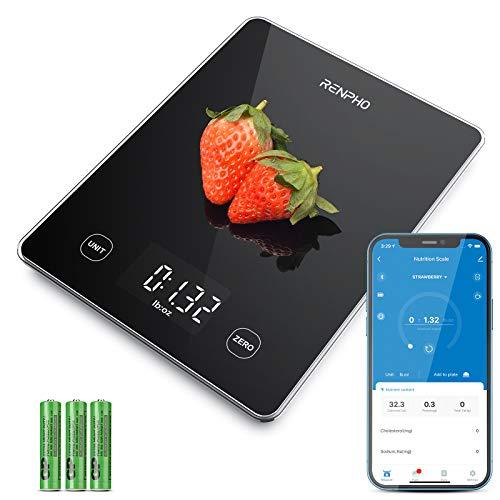 RENPHO Küchenwaage Digital 10kg Haushaltswaage mit Nährwertrechner Digitalwaage