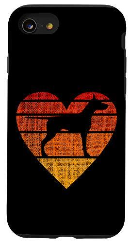 iPhone SE (2020) / 7 / 8 Doberman Pinscher Dog Puppy Retro Sunset Lover Mom Dad Gift Case