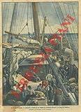 La colazione a bordo di un vapore di contadini emigranti da Napoli in America.