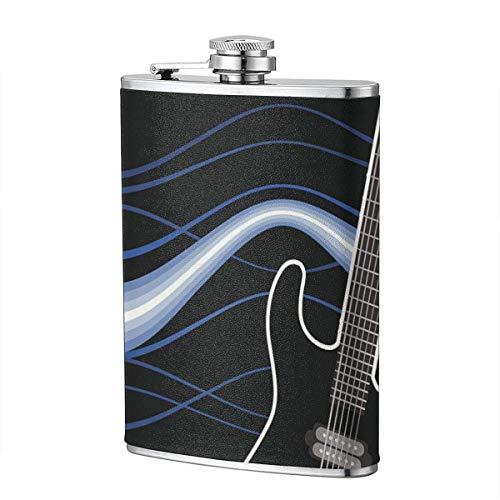 XBYC 8 oz Frasco de acero inoxidable Guitarra Blues Hip Flask 1 paquete Gran regalo para hombres