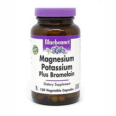 BlueBonnet Magnesium Potassium Plus Bromelain Vegetarian Capsules, 120 Count