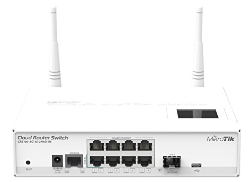 Mikrotik CRS109 8G 1S 2HnD IN   Switch de red L3