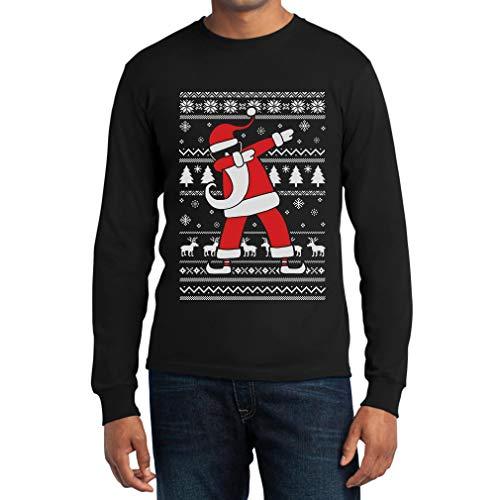 Weihnachten Dab vom Weihnachtsmann Langarm T-Shirt X-Large Schwarz