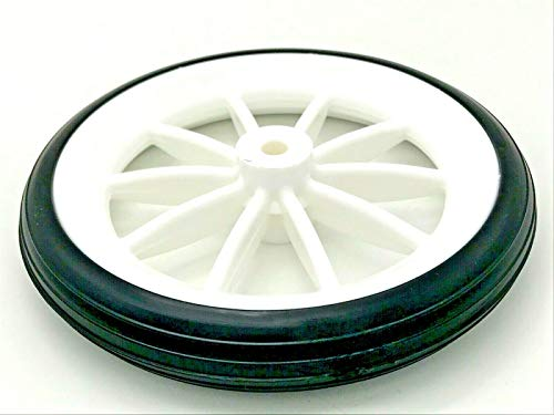 2 x Einkaufstrolley Rollen 125 mm schwarz & weiß Rad für Einkaufswagen