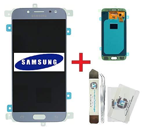 ITG® Original Display Reparatur-Set für Samsung Galaxy J5 (2017) DUOS SM-J530F Blau – Original Samsung LCD Displayeinheit (Service Pack) GH97-20738B + Vormontierte 3M Klebefolie + Werkzeug-Set
