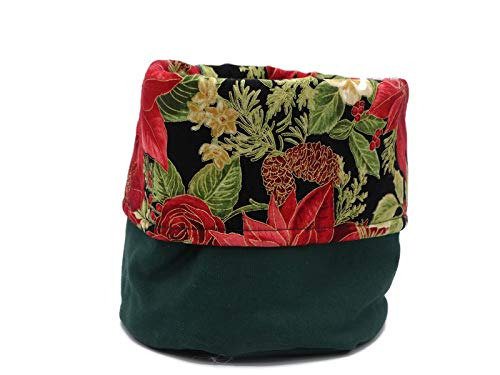 Poinsettia NEW before selling Holiday Print Decorative Cloth National products Canvas - Cotton Bin