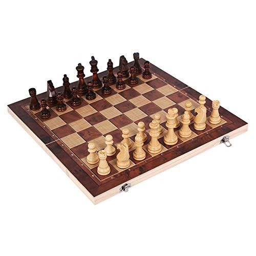 Schachspiel Holz Hochwertig, Einklappbar Schachbrett Schach Tragbare Holz Schachbrett Klappbrett Internationalen Schachspiel Für Geschenk Reisen Party Familie Aktivitäten Schönes Kinder