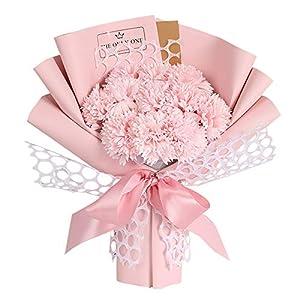 Barcley Artificial Flowers, Pink Carnation Soap Bouquet Rose Flower for Weddings, Decorations, DIY Decor,Realistic Flower Arrangements Wedding Decoration Table Centerpieces