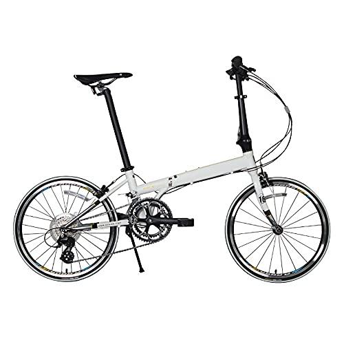 DODOBD Bicicletas Plegables Ligeras de 20 Pulgadas Y 6 Velocidades Frenos de Disco Doble Bicicleta de Ciudad para Adultos Hombres Mujeres Estudiantes Bicicletas Urbanas