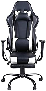 HEEGNPD High back swivel chair for racing games office chair with level footrest