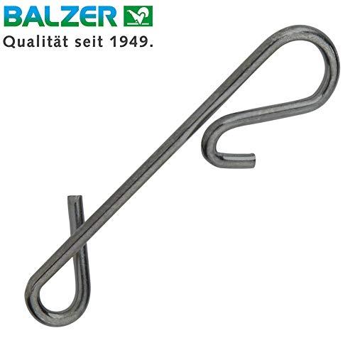 Balzer Schnurverbinder - Knotenlosverbinder zum Spinnfischen, Verbindung von Hauptschnur und Vorfach zum Spinnangeln, Größe/Tragkraft/Packungsinhalt:Gr. XXXL / 25kg / 12 Stück