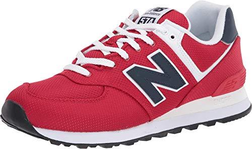New Balance Men's 574 V2 Sneaker, Team Red/Natural Indigo, 12 M US