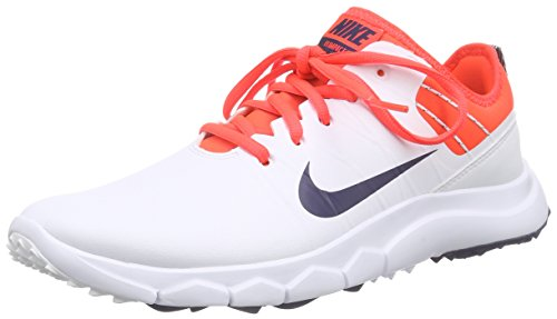 NikeFI Impact 2 - Scarpe da Golf Donna, Bianco (Weiß (White / Midnight Navy / Bright Crimson / University Red 102)), 37.5
