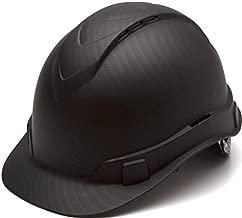 Pyramex Ridgeline Cap Style Hard Hat, Vented, 4-Point Ratchet Suspension, Black Graphite Pattern