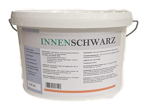 Innenschwarz Matte Wandfarbe 2,5 Liter Schwarz 11,20€/L