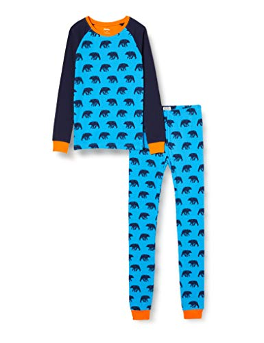 Hatley Organic Cotton Raglan Long Sleeve Printed Pyjama Set Juego de Pijama, Osos Azules, 2 Years para Niños