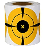 Top label Bullseye Target Stickers - 250 Target Roll - Neon Orange Self-Adhesive Targets for Shooting Fluorescent 3' Inch Adhesive Shooting Target Stickers