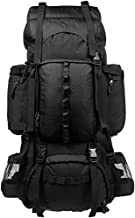 AmazonBasics Internal Frame Hiking Camping Rucksack Backpack with Rainfly - 18 x 8 x 37 Inches, 75 Liters, Black