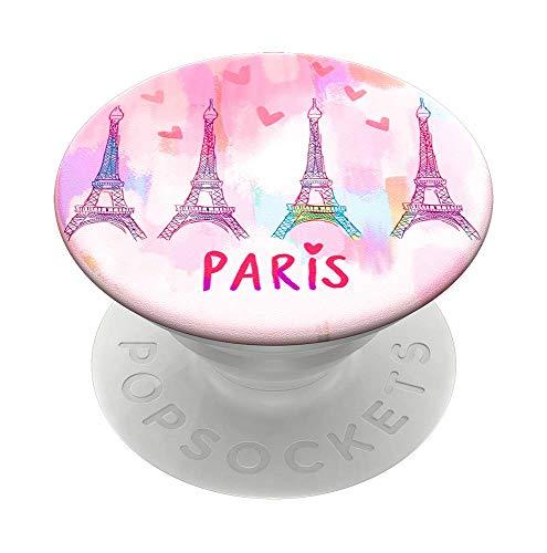 PopSockets PopGrip - Supporto e Impugnatura per Telefoni Cellulari e Tablet con un Top Intercambiabile - Paris Love