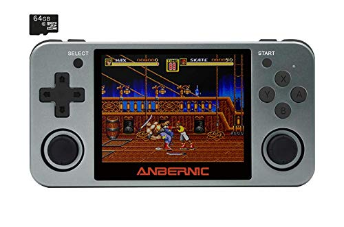 ANBERNIC RG350M Alloy Casing Space Grey Retro Gaming Handheld Console ; 640x480 IPS Display, Dual-Core CPU [RG350M-SG]