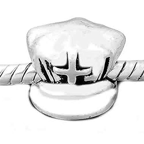 SEXY SPARKLES Gorra de enfermera con cuentas de cruz para cadena de serpiente