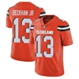 Yongge NFL Masculino Camisetas De Rugby Ropa Deportiva De Fútbol Americano Cleveland 13# Beckham JR Jersey Fan Unisex Transpirable Manga Corta(Size:Large,Color:A)