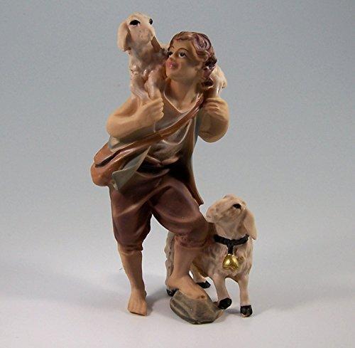 Schäfer mit Schaf, geeignet für 11cm Figuren