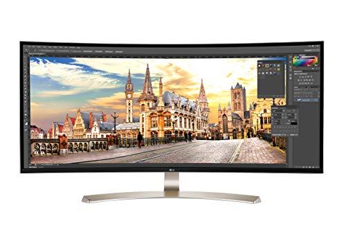 LG 38UC99-W 95,25 cm (37,5 Zoll) Curved 21:9 UltraWide™ IPS Monitor (QHD+, AMD Radeon FreeSync, DAS Mode), weiß