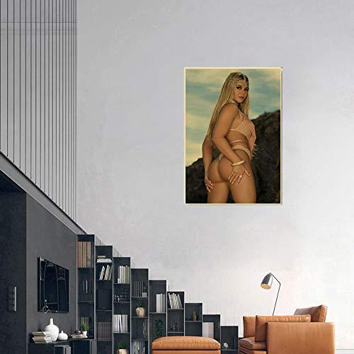 WKAQM Sexy Big Butt Poster Prints Sexy Bikini Women Canvas Wall Art Sexy Hot Girl Big Ass Wall Painting Bar Cafe Bedroom Picture Wall Art Decor Sin Marco Z-5414