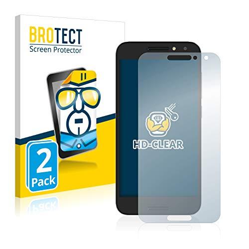 BROTECT Schutzfolie kompatibel mit Alcatel A3 (2 Stück) klare Bildschirmschutz-Folie