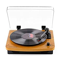 Musitrend LP 3-Speed Record Player with Built-in Stereo Speakers