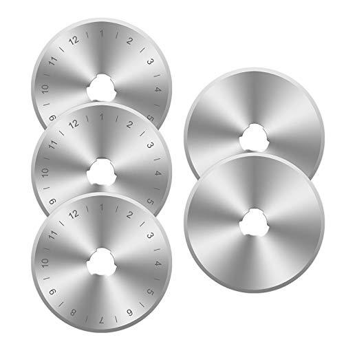 Create Idea Lames de Coupe Rotatives 45mm Lame de Rechange Coupeur pour Fit Olfa Fiskars Trèfle