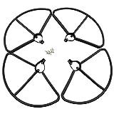 YNSHOU Funcional Propeller 4pcs Protectores de hélice para Hubsan H501S H501A H501C H501M H501S W H501S Pro Control Remoto Drone-Black Drone Accesorios