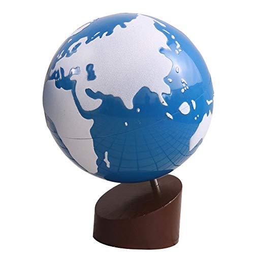 LiChaoWen Decoración de Escritorio Continental World Watercolor Global Scrub Earth Niños Juguetes Auxiliares De Enseñanza (Color : White, Size : Free Size)