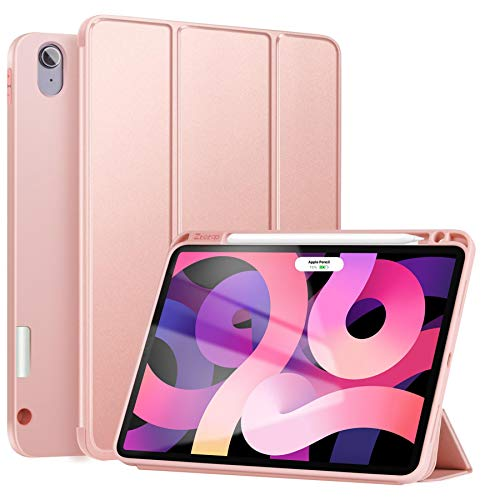 ZtotopCase Case for New iPad Air 10.9 inch 2020(4. Generation), Full Body Protective Rugged Shockproof Case with Pencil Holder, Auto Wake/Sleep,Cover for ipad Air 10.9' 2020 Release - Rosegold