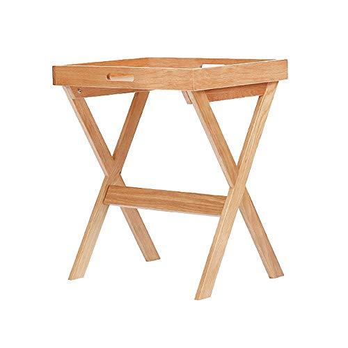 N/Z Wohnausstattung Sofa Beistelltisch Ecke Kleiner Couchtisch Moderner minimalistischer hölzerner Ecktisch Wohnzimmer Kleiner Tisch