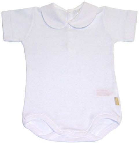 CamBrass - Body de manga corta unisex para bebé con cuello