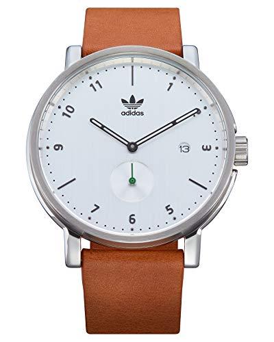 Adidas Herren Analog Quarz Uhr mit Leder Armband Z12-3039-00