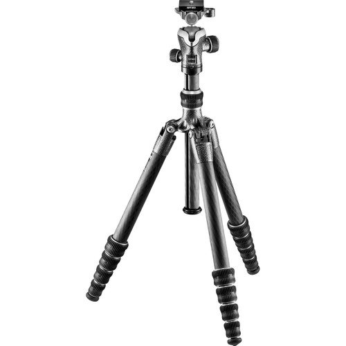 Gitzo Lightweight Series 1 Traveler Carbon Fiber Tripod with Center Ball Head, Silver...