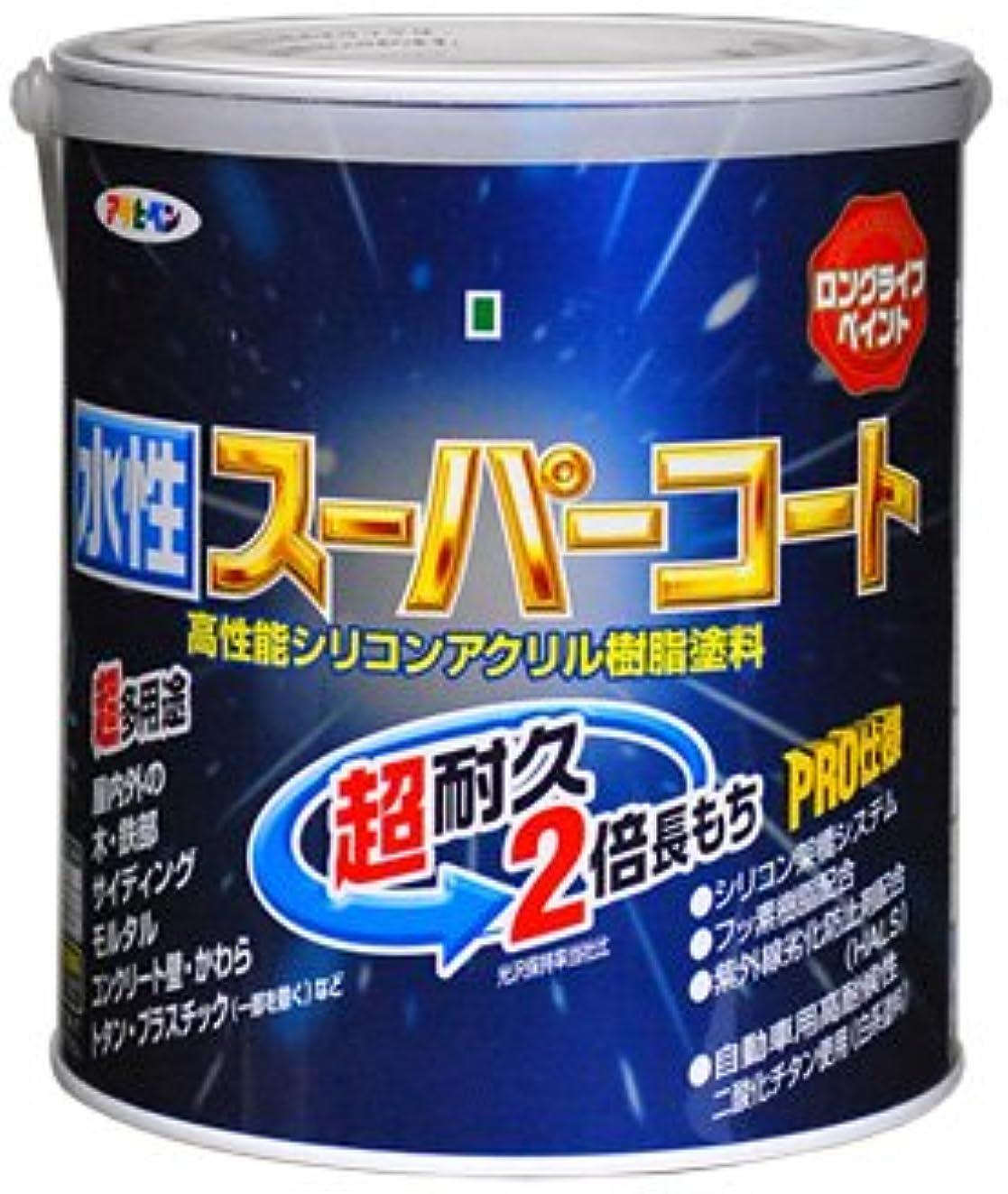 カジュアルコンパクトブースアサヒペン ペンキ 水性スーパーコート 水性多用途 緑 1.6L