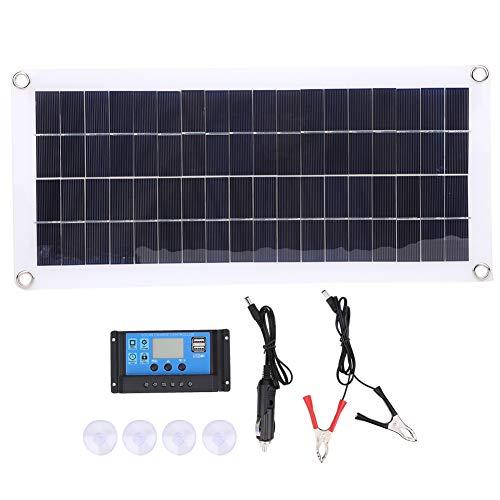 Wilecolly Paneles solares, 20W 18V Panel Solar Componente de Paquete de Carga de energía móvil para teléfono móvil Coche Senderismo al Aire Libre