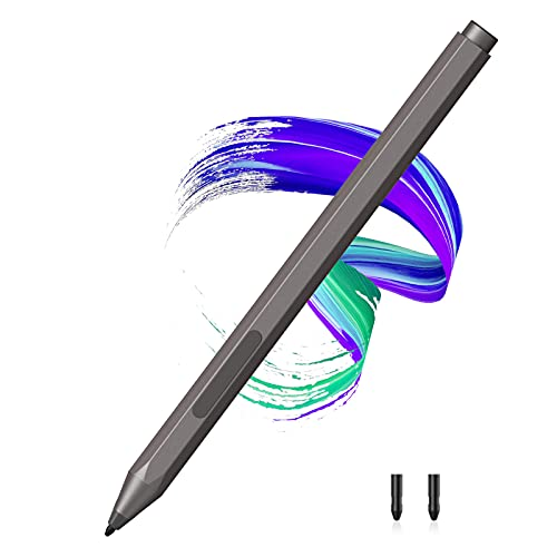 CaseBot Pen for Surface, Stylus Pen for Microsoft Surface with Palm Rejection, 1024 Levels of Pressure Compatible with Microsoft Surface Pro X 7 6 5 4 3, Surface Laptop, Surface Book, Surface Go, Gray
