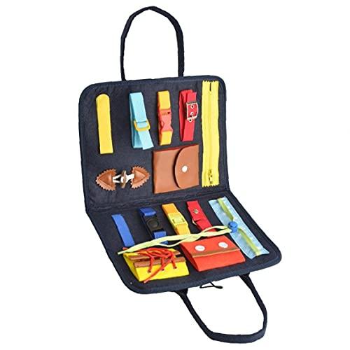Toddler Busy Board Montessori Basic Färdigheter Aktivitetskort Bärbar Tidig Grundläggande Livskällor Aktivitetsverket För Barn I Åldrarna 2, 3, 4, 5